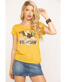 Idyllwind Women's Rye & Shine Trustie Tee, Dark Yellow, hi-res