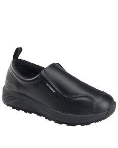 Nautilus Men's Black Skidbuster Pull-On Work Shoes - Soft Toe, Black, hi-res