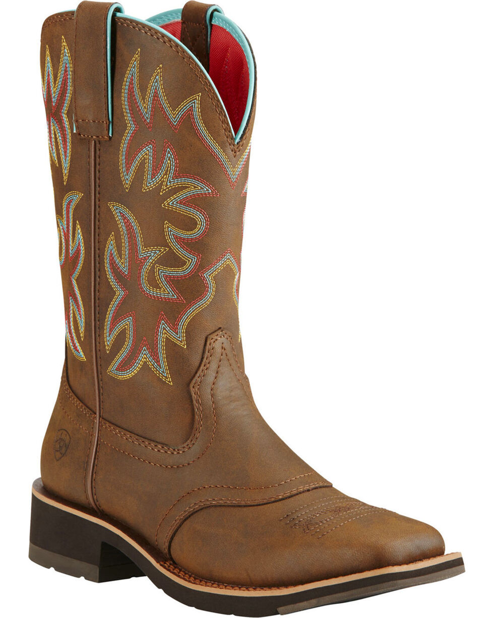 Ariat Women's Brown Delilah Toasted Boots - Square Toe , Brown, hi-res