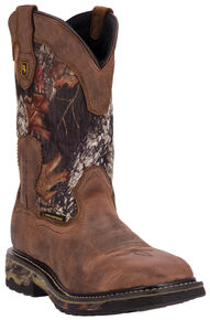 Dan Post Hunter Waterproof Camo Work Boots, Saddle Tan, hi-res