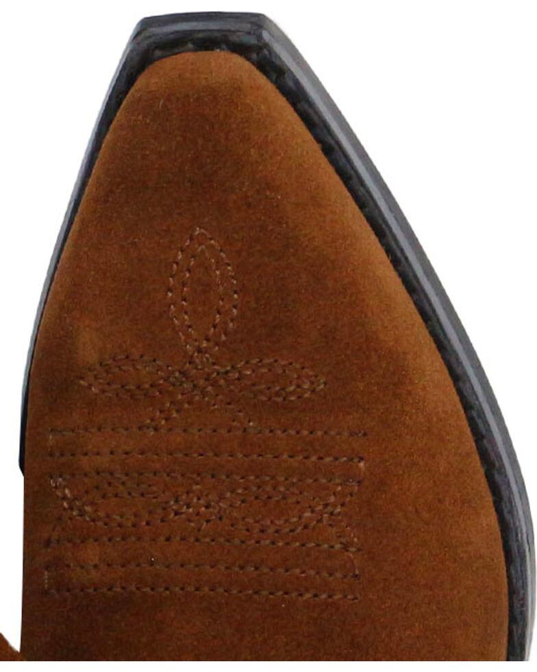 Shyanne Girls' Brown Double Fringe Western Boots - Snip Toe, Brown, hi-res