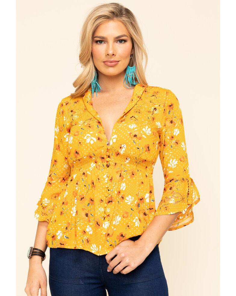 Idyllwind Women's Tambourine Top, Yellow, hi-res