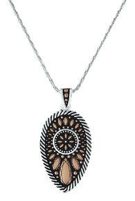 Montana Silversmiths Women's Sunset Prairie Clover Necklace , Pink, hi-res