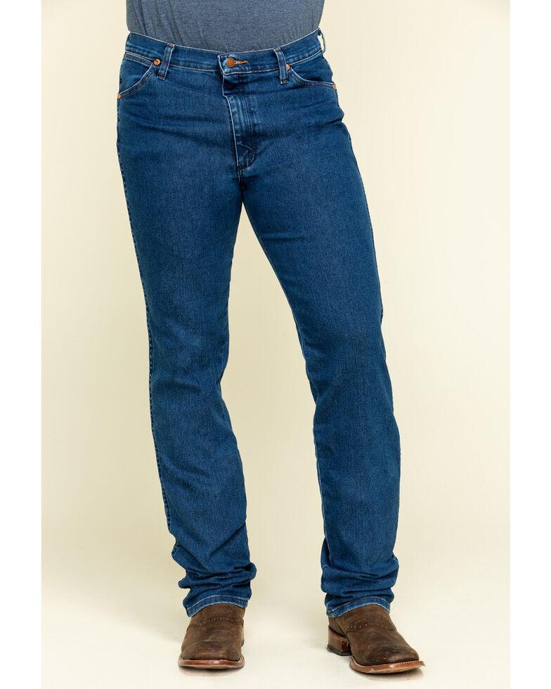Wrangler Men's Active Flex Stonewash Slim Cowboy Cut Jeans - Big , Blue, hi-res