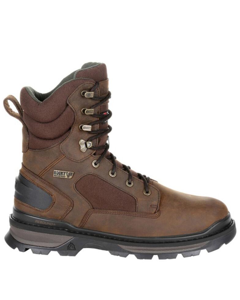 Rocky Men's Rams Horn Waterproof Outdoor Boots - Soft Toe, Brown, hi-res
