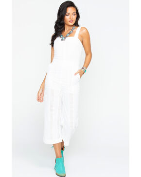 Freeway Apparel Women's Wide Leg Jumper, White, hi-res