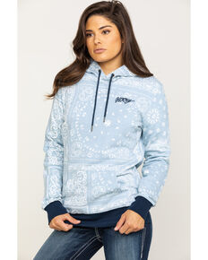 HOOey Women's Rio Hooded Sweatshirt, Blue, hi-res
