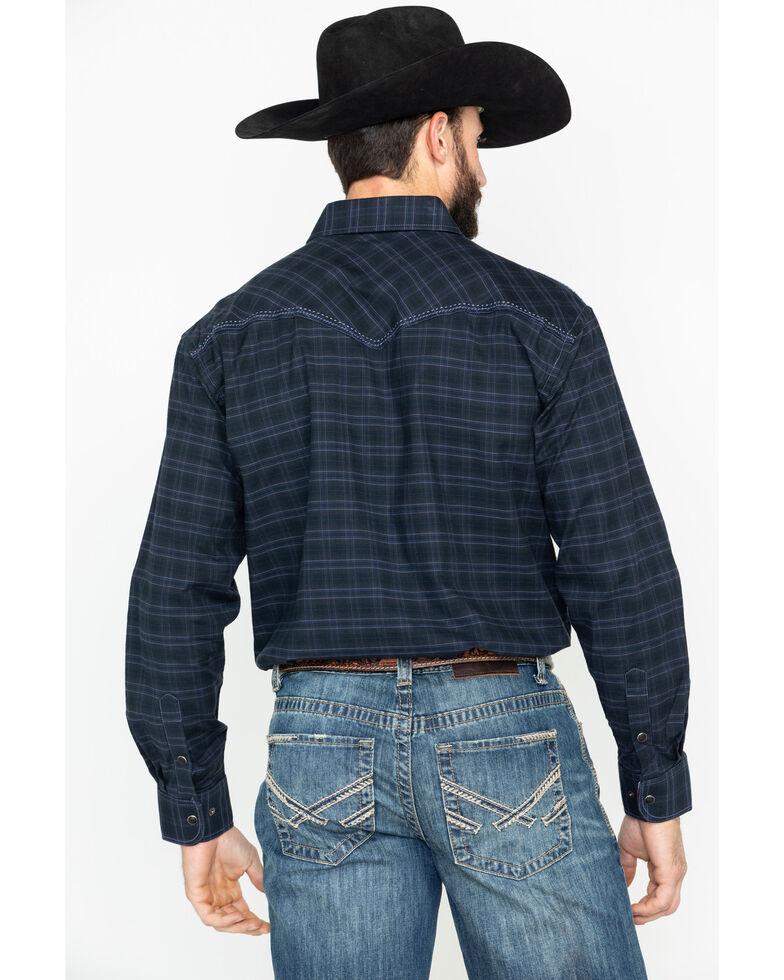 Panhandle Men's Black Snap Long Sleeve Western Shirt, Black, hi-res