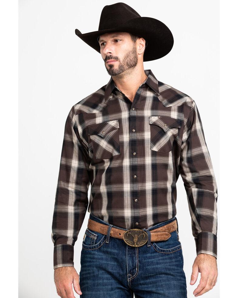 Ely Walker Men's Assorted Multi Peached Plaid Long Sleeve Western Shirt , Multi, hi-res