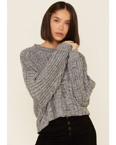 Free People Women's On Your Side Pullover Sweater , Grey, hi-res