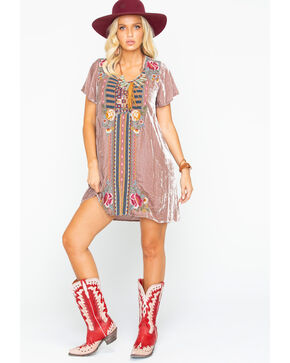 Johnny Was Women's Cherelle Flutter Sleeve Tunic Dress, Mauve, hi-res