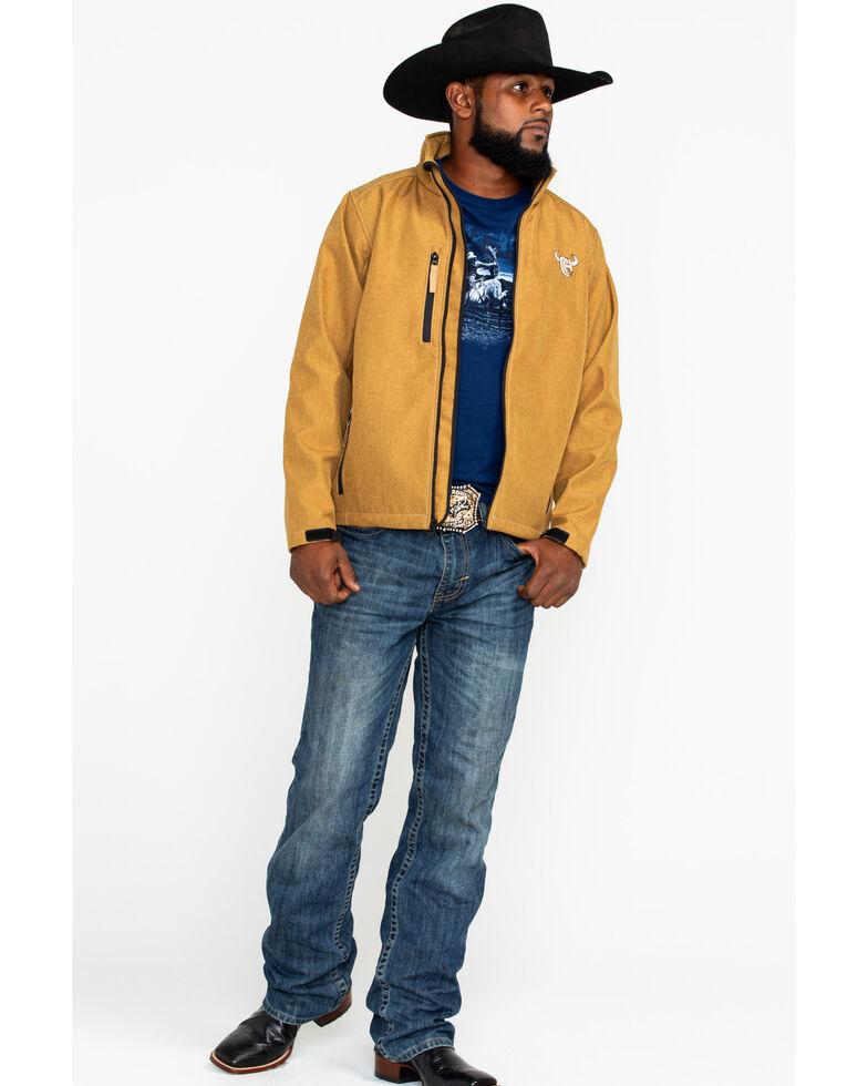 Cowboy Hardware Men's Logo Poly Shell Jacket , Tan, hi-res