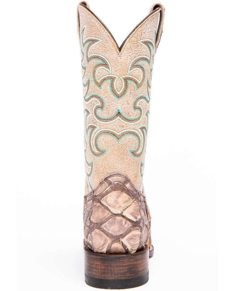 Shyanne Women's Exotic Pirarucu Western Boots - Square Toe, Taupe, hi-res