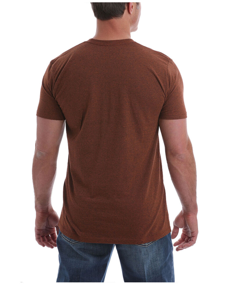 Cinch Men's Heather Burgundy Scenic Logo Graphic Short Sleeve T-Shirt , Burgundy, hi-res
