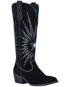 Dingo Women's Star Is Born Western Boots - Round Toe, Black, hi-res