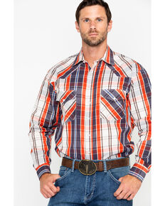 Resistol Men's Hettinger Plaid Long Sleeve Western Shirt , Multi, hi-res