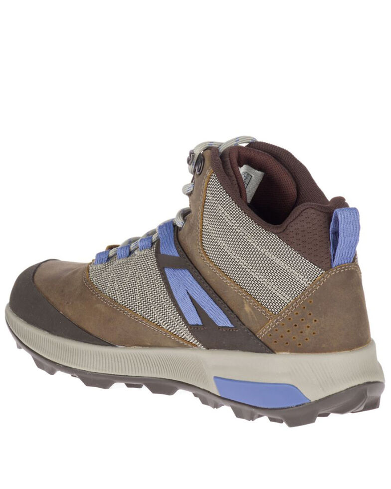 Merrell Women's Zion Waterproof Hiking Boots - Soft Toe, Medium Grey, hi-res