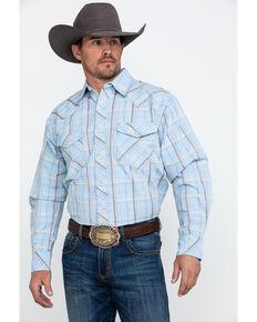 78ee3542cd Resistol Men's Death Valley Large Plaid Long Sleeve Western Shirt