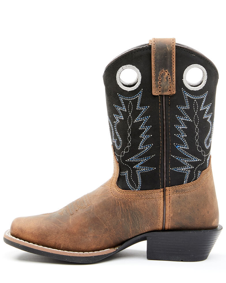 Cody James Boys' Brown Western Boots - Wide Square Toe, Brown, hi-res