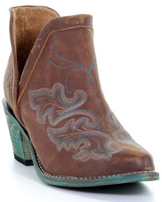 Corral Women's Cognac Embroidery Fashion Booties - Round Toe, Cognac, hi-res