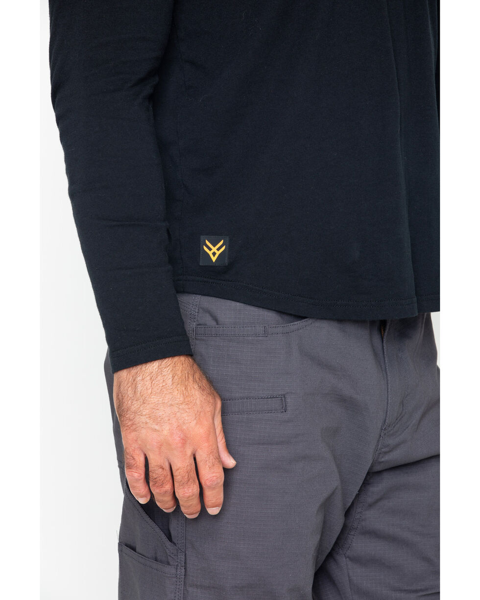 Hawx® Men's Solid Pocket Crew Tee - Big & Tall , Black, hi-res