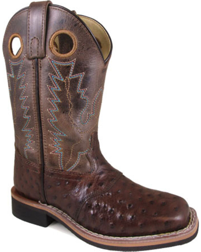 Smoky Mountain Youth Boys' Cheyenne Tobacco/Brown Crackle Boots - Square Toe, Brown, hi-res