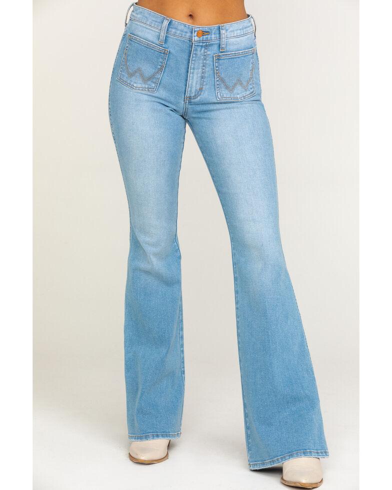 Wrangler Modern Women's Malibu Flare Jeans, Blue, hi-res