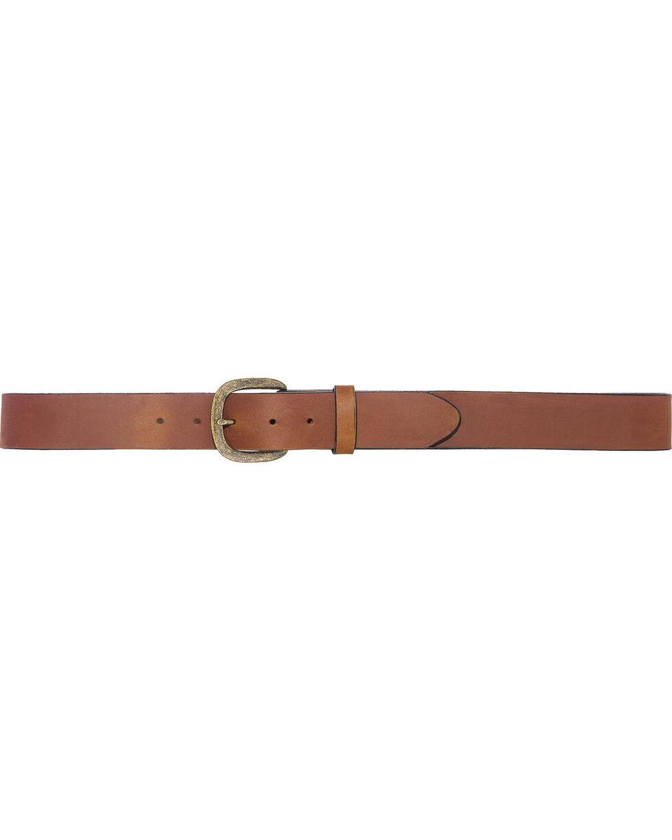 Justin Men's Basic Work Belt , Brown, hi-res
