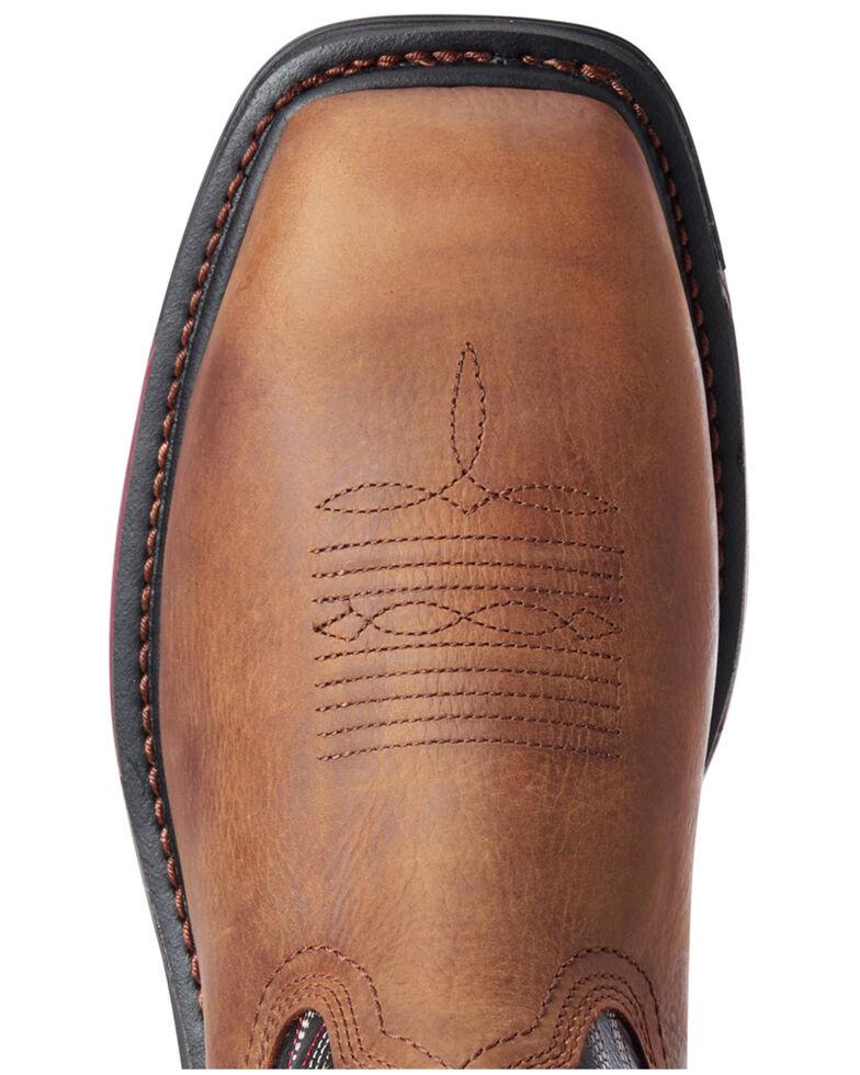 Ariat Men's Mesa Big Rig Waterproof Western Work Boots - Composite Toe, Brown, hi-res
