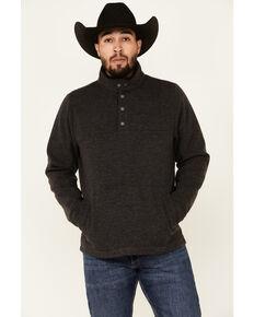 Outback Trading Co. Men's Charcoal Gavin Henley Fleece 1/2 Snap Pullover , Charcoal, hi-res