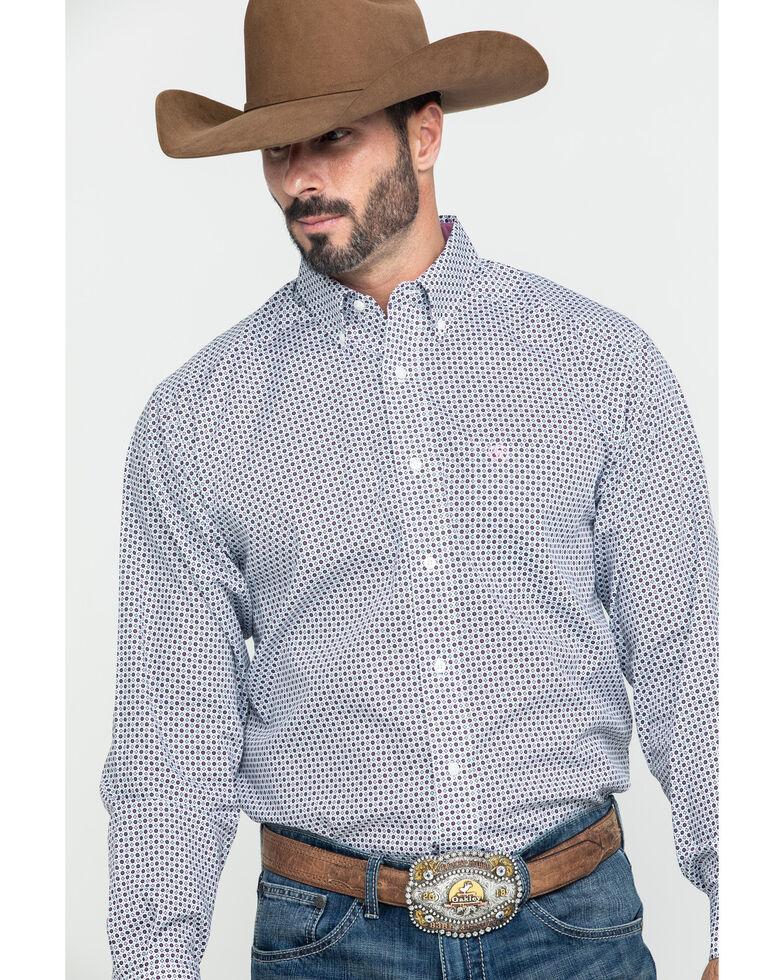Ariat Men's Wrinkle Free Ilcott Geo Print Long Sleeve Western Shirt , Multi, hi-res