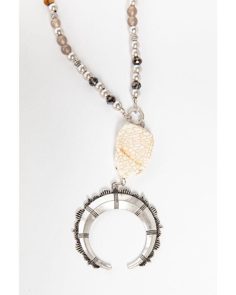Shyanne Women's Moonlit Crescent Necklace , Silver, hi-res