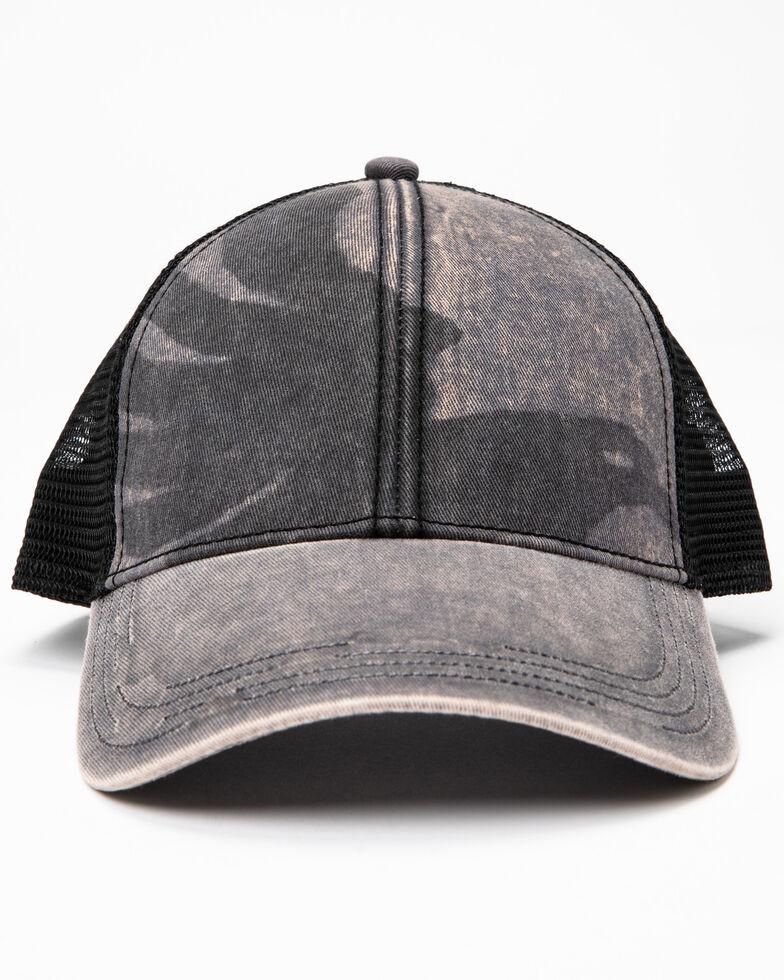 Cody James Men's Eagle Screen Print Ball Cap , Grey, hi-res
