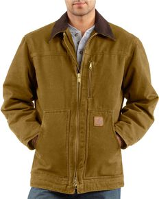 Carhartt Sandstone Ridge Work Coat, Brown, hi-res