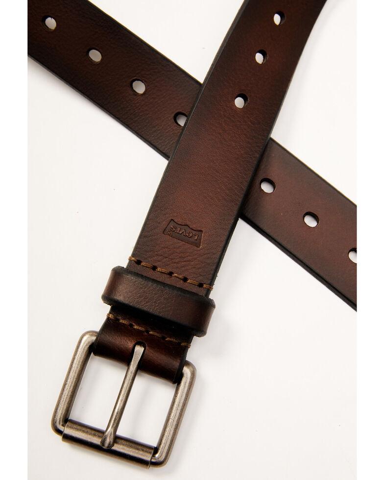 Levi's Men's Casual Brown Roller Buckle Belt, Brown, hi-res
