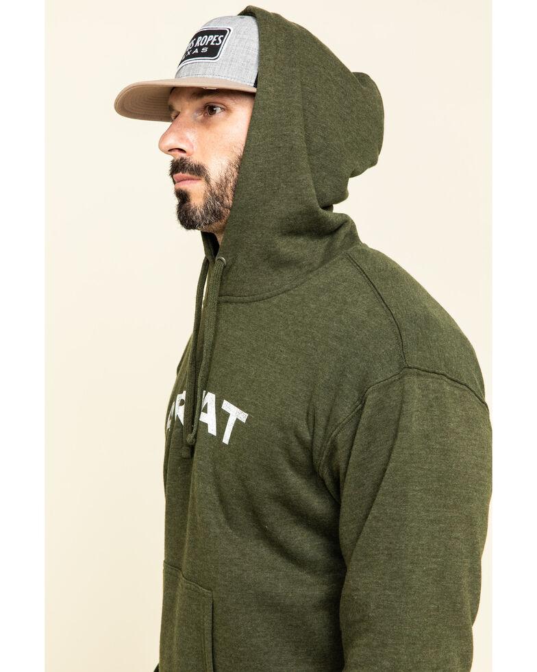 Ariat Men's Black Vertical Flag Graphic Hooded Sweatshirt , Green, hi-res