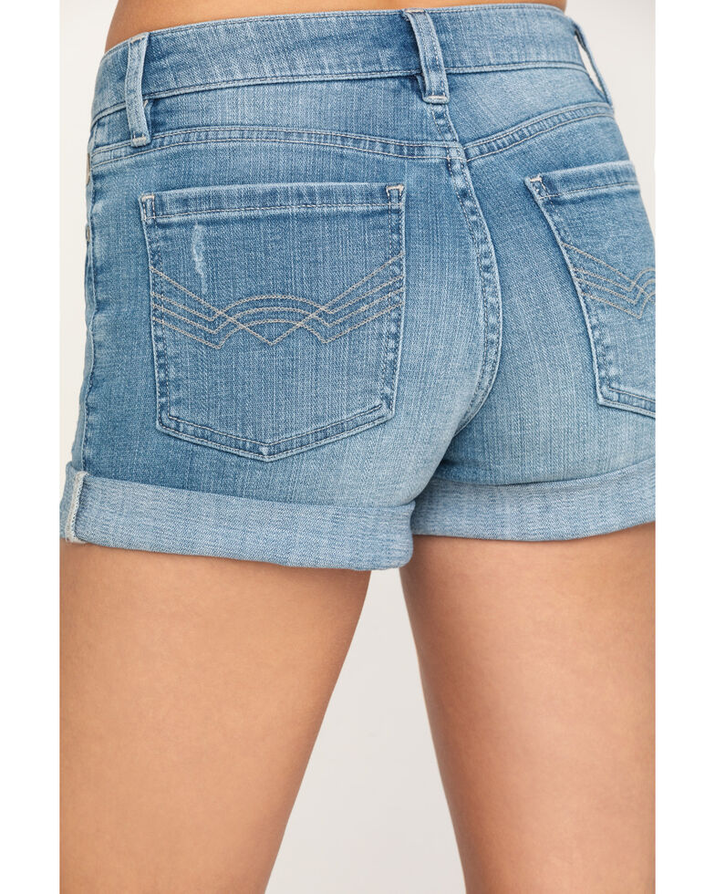 Idyllwind Women's Southern Classic Mid-Rise Rolled Cuff Denim Shorts, Blue, hi-res