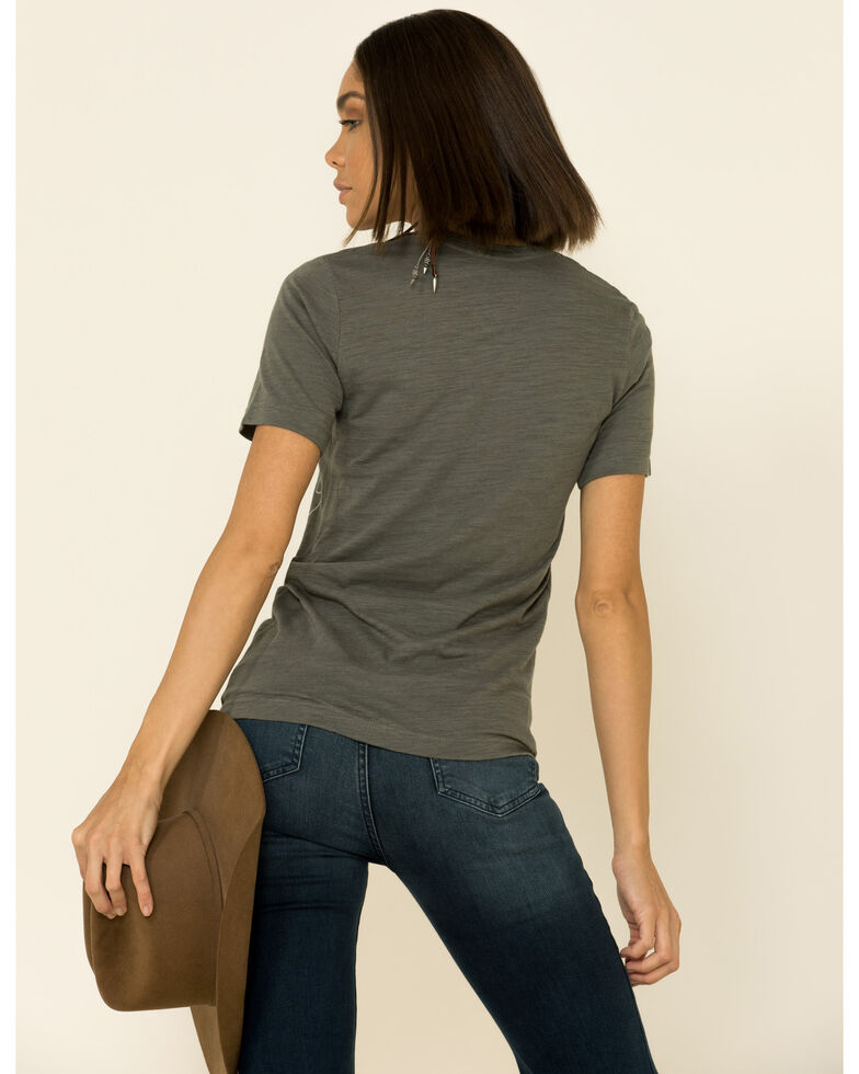 Rodeo Quincy Women's Meet Me At The Rodeo Graphic Tee , Grey, hi-res