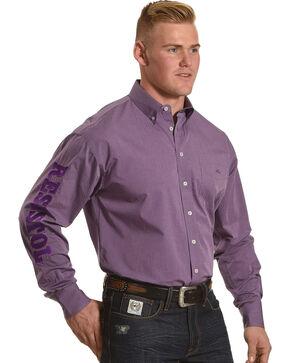 Resistol Men's Purple Remerton Marketing Button Shirt , Purple, hi-res