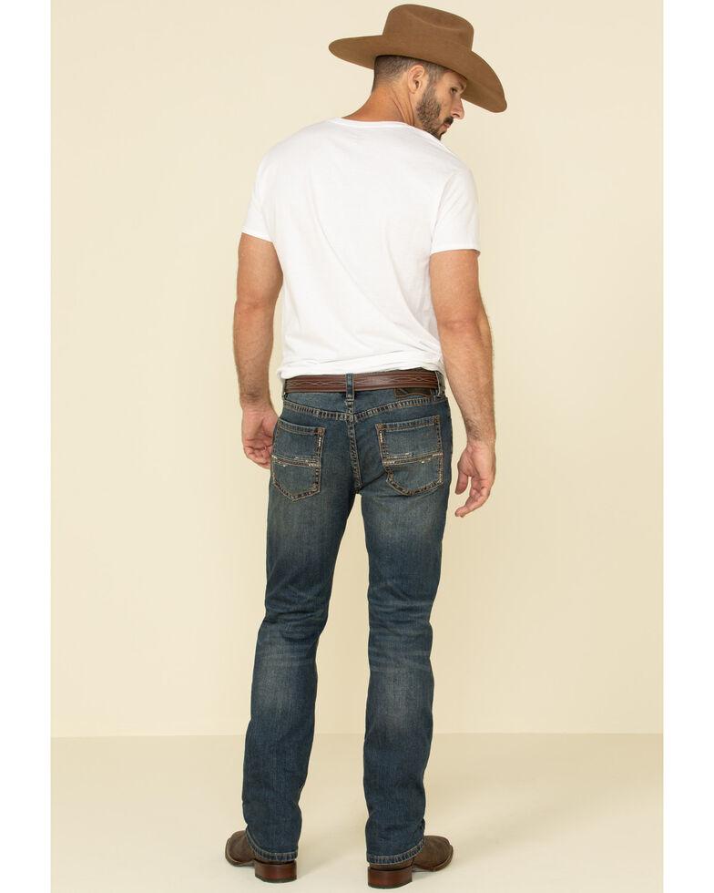 Rock & Roll Denim Men's Revolver Dark Vintage Stretch Slim Straight Jeans , Blue, hi-res