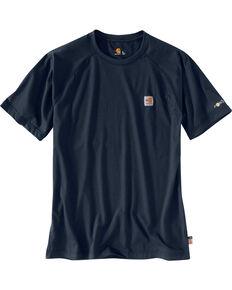 Carhartt Force Men's FR Short Sleeve T-Shirt, Navy, hi-res