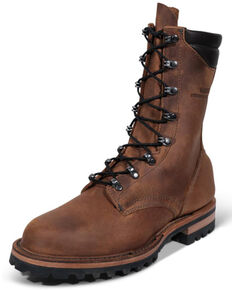 LaCrosse Men's Fire Hybrid Work Boots - Soft Toe, Brown, hi-res