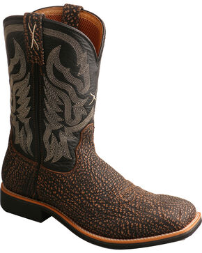 Twisted X Men's Top Hand Embossed Cowboy Boots - Square Toe, Brown, hi-res