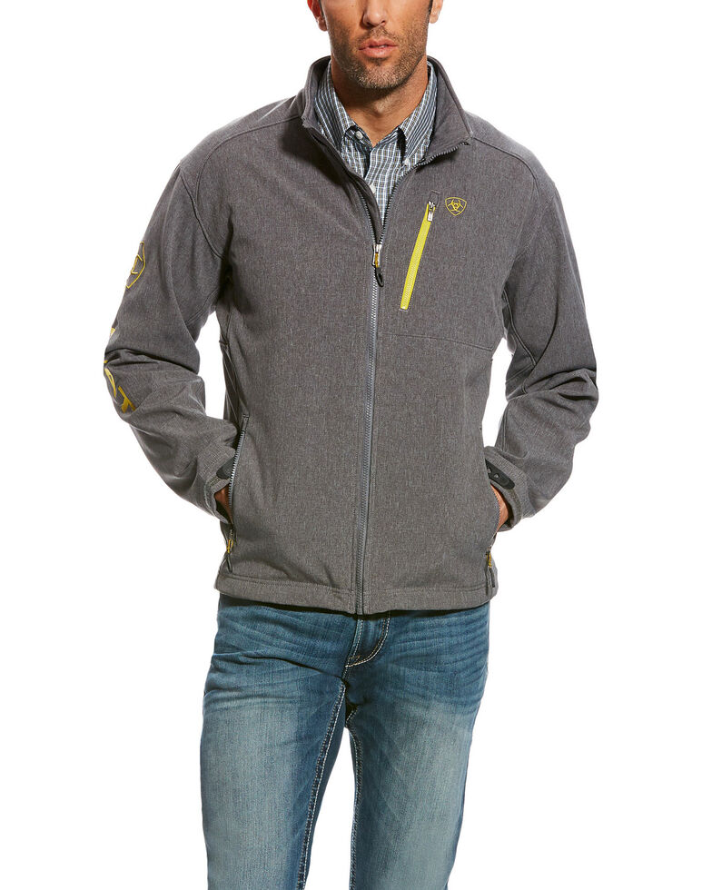 Ariat Men's LOGO 2.0 Softshell Jacket , Charcoal, hi-res