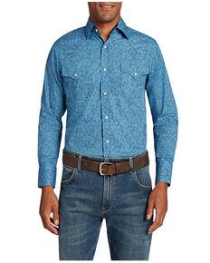 Ely Cattleman Men's Assorted Geo Print Long Sleeve Snap Western Shirt , Multi, hi-res