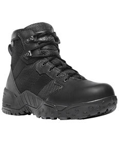"Danner Men's Black Scorch Side Zip 6"" Boots - Round Toe , Black, hi-res"
