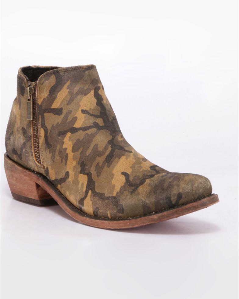 Liberty Black Women's Camo Western Booties - Round Toe, Camouflage, hi-res