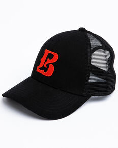 Boot Barn Men's Proud B Center Logo Mesh Cap , Black, hi-res