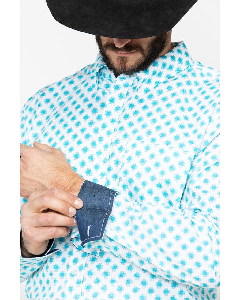 Cody James Core Men's Astro Geo Print Long Sleeve Western Shirt , White, hi-res