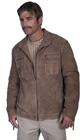Scully Zip Front Vintage Suede Jacket, Whiskey, hi-res